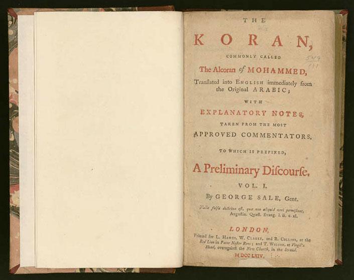 Thomas Jefferson's 1764 Copy of The Qur'an – The Muslim Voice